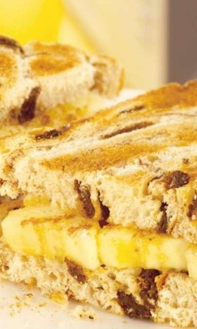 Toast di banane alla cannella