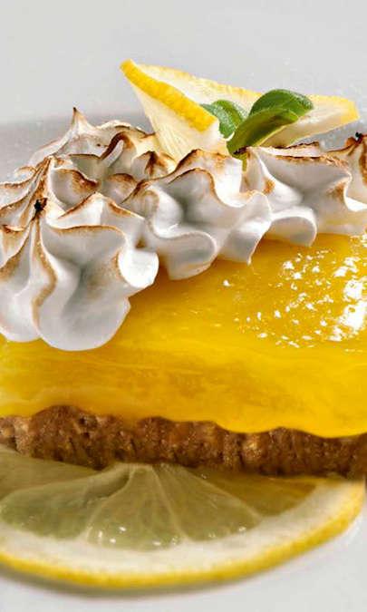 Tortino gratinato alla crema di limone