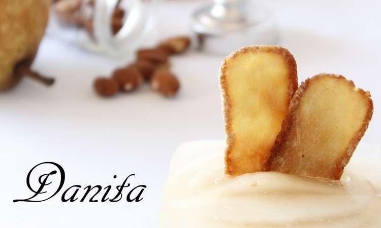 Cheese cake alle pere con chips di Pavesini