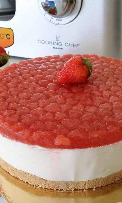 Cheesecake freddo alle fragole