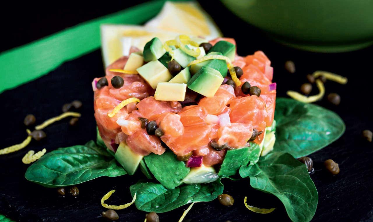 Tartare di salmone affumicato con verdure