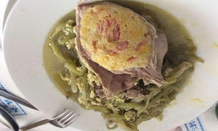 Carduncill con l'agnill (ricetta tipica Pasquale)