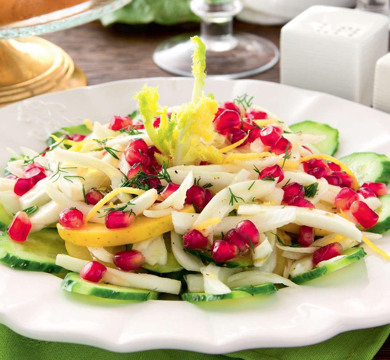 Insalata con finocchi, mele e cetriolo