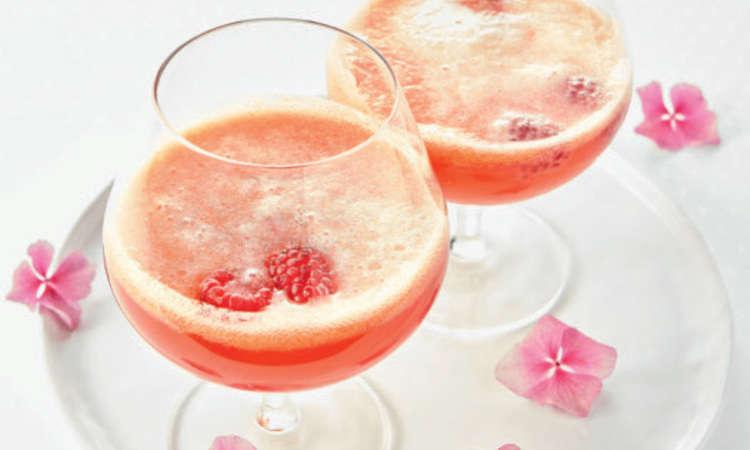Cocktail sidro e lamponi