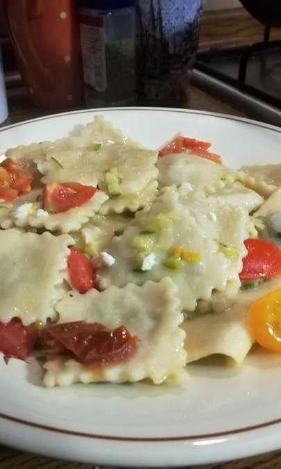 Ravioli integrali con zucchine